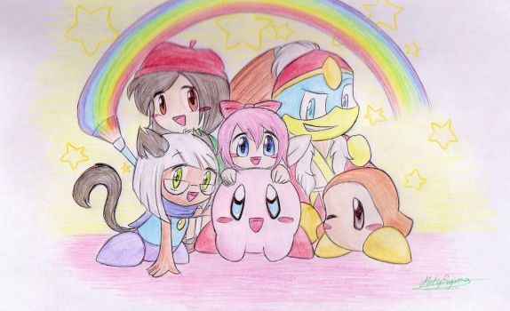 Kirby and friends by MetyRyuma