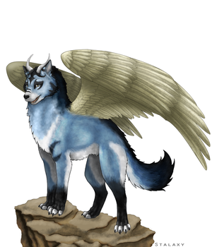 Winged Wolf by Stalaxy