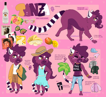 Tanza Reference Sheet by SpunkyRacoon