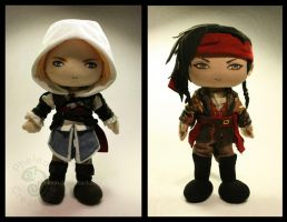 Edward Kenway and James Kidd by pheleon