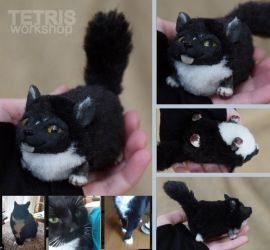 Charm doll black and white cat by pet by KrafiCat