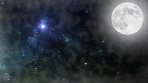 Full Moon Wallpaper by RogueVincent