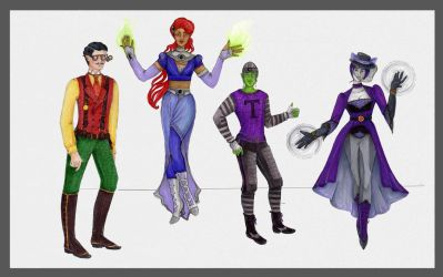 Four Titans. by theceruleancreep
