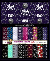Star Wars Empire Digital Paper by MadTwinsArt
