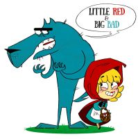 Little Red and Wolfie by MariChan27