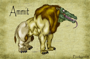 Ammit the devourer by pookyhorse