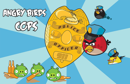 Angry Birds Cops by MelissasFanArt