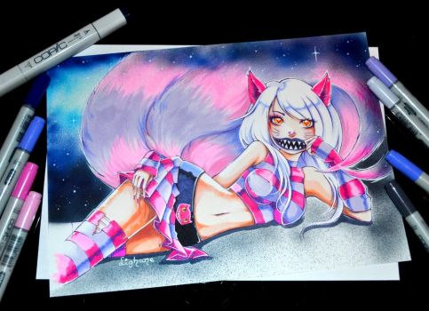 Cheshire Ahri by Lighane