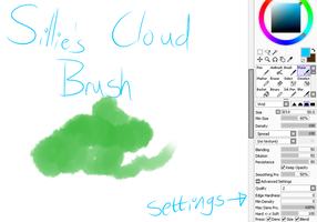 Sillie's Cloud Brush in SAI by lockandkye