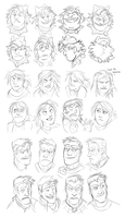Alf, Jacky and Gale Expressions by GreekCeltic