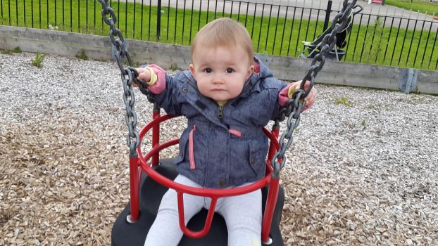 neice first time on swing by bambino45