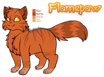 Mine| Flamepaw Ref by DevilsRealm