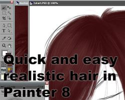Easy realistic hair in Painter by deadlocked