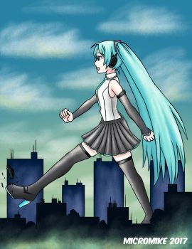Miku's Stroll by Micro-Mike