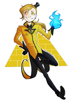 Gravity Falls Doodles 5 Bill Cipher Human Design by Shazifire