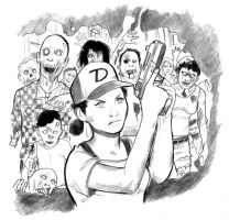 Walking Dead: Clementine versus the Dead by cluedog