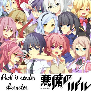 Pack 13 Render Akuma no Riddle by Shiro-Keii