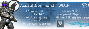 Halo 4 Gamercards - AssaultCommand by Floodgrunt