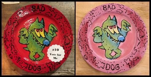 Bad dog plate  by Angry-Baby