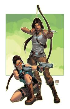 SDCC Exclusive Tomb Raider 20th Anniversary Print by thecreatorhd