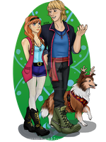 Modern Fashion - Kristoff and Anna by TheCyberZombie