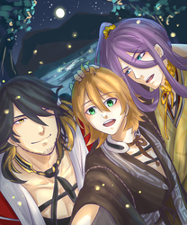 Tourabu - Kotetsu Brothers' summer night by Zerii-chan