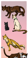 Tigerstar's mates and kin by Marshcold