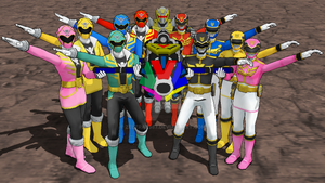 MMD - Super Sentai Bazooka, FIRE! by Zeltrax987