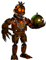 Jack-O-Chica with Pumpkin by EndyArts