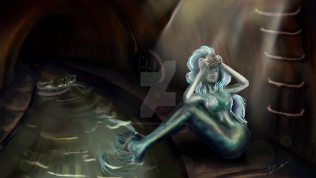 Mermaid in the sewer by Redwingsparrow