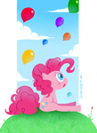 Pinkie Pie and dem balloons by RZSTUDIO