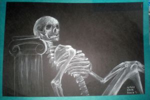 Skeleton Resting by kagomelovesinu