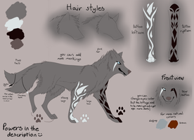Wolf Angel/Demon - ref sheet auction OPEN by Kaysa99