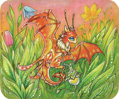 Firefly dragon by AlviaAlcedo