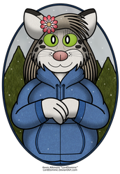 Saira, the Snow Leopard by LordDominic