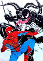 Spider-man vs The Venom by RedWing99