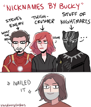 If bucky had to give nicknames by Randomsplashes