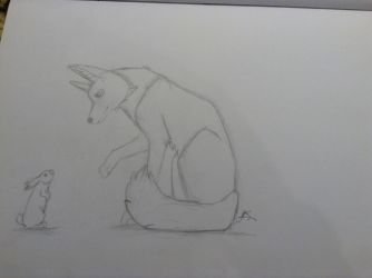Canine and Rabbit Dump Sketch by Swifty52