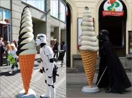 Stormtrooper and Vader + Ice by Duranik