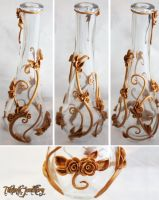 .: Gold Vines and Roses Vase :. by tanya1