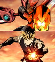 Commission: One Punch Mon - Scizor (Genos)