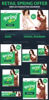 Retail Spring Offer Web Ad Marketing Banners by webduckdesign