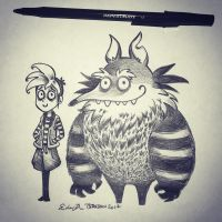 Inktober Day 20: Tim Burton-esque by TsaoShin