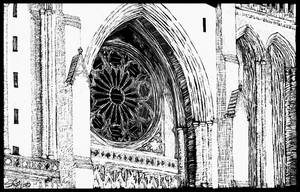 Scratchboard: Washington National Cathedral by DentistChicken