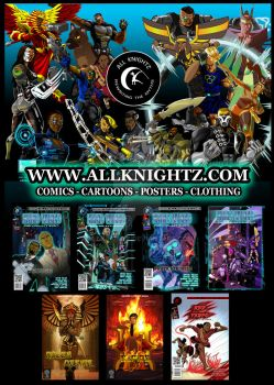 Comic titles from All Knightz Ltd by AllKnightz