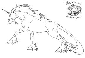 Unicorn Lineart for dA use by WSTopDeck