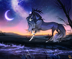 Warm night   commission   by mOilacake