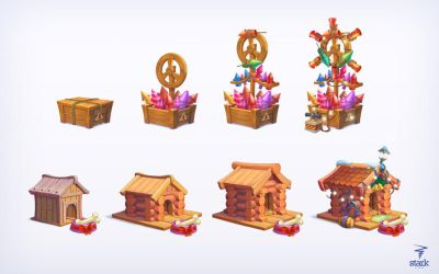Object for Christmas 2015 game by Bahryi