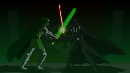 EMH Darth Vader Vs Doctor Doom by Deathfirebrony