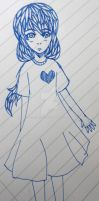 Zanthe doodle with pen by Jestereir